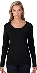 Women`s Sheer LS Scoop Tee