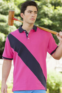 MEN'S DIAGONAL STRIPE POLO