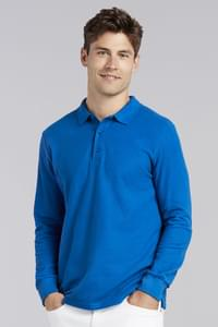 Premium Cotton Adult Double Piqué Polo LS