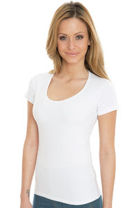 Brenda - Organic Deep Round Stretch T-Shirt