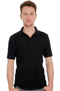 Charlton- Men`s Viscose-Cotton Pique-Polo