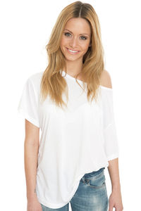 Kate - Viscose-Cotton Fashion Boxy T-Shirt