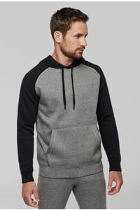 Sweat-shirt capuche bicolore adulte