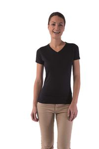 Ladies' no label V-neck t-shirt