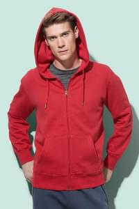 Hooded sweatjacket for men