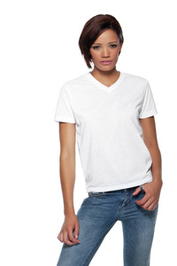 Womens Subli Plus® V neck T-Shirt