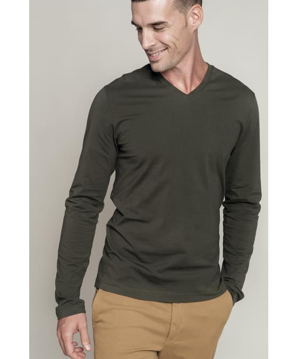 Kariban Longues V Homme Encolure Shirt Manches T c3F1TlKJ