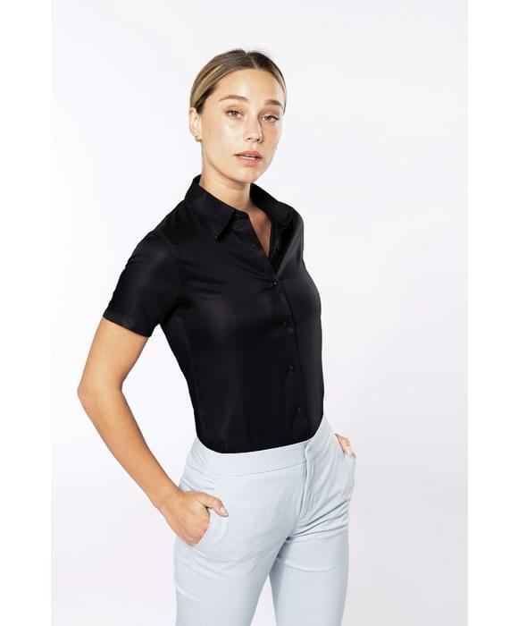 kariban chemise femme manches courtes sans repassage. Black Bedroom Furniture Sets. Home Design Ideas