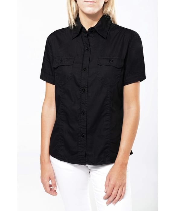 kariban chemise femme manches courtes cintr e tropical ladies kariban. Black Bedroom Furniture Sets. Home Design Ideas